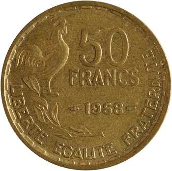 IVe République, 50 francs Guiraud, 1958 Paris