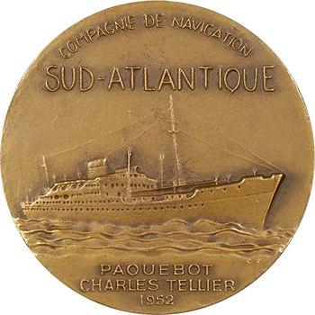 IVe République, Compagnie de navigation sud-atlantique, le paquebot Charles Tellier, par Fraisse, 1952 Paris