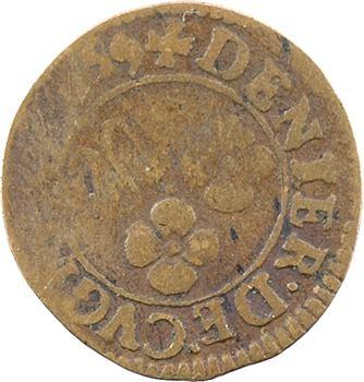 Ardennes, Cugnon (principauté de), Ferdinand-Charles, denier tournois 3e type, 1649 Cugnon