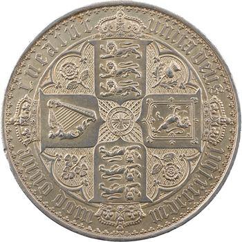 Royaume-Uni, Victoria, crown (écu) au buste couronné, 1847 Londres