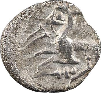 Allobroges, denier au cervidé à gauche et à l'épée, classe II, IIe – Ier siècle av. J.-C