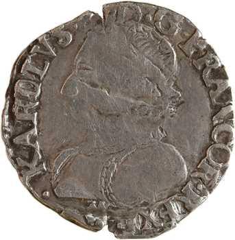 Henri III (au nom de Charles IX), demi-teston 4e type, 1575 ? Bayonne