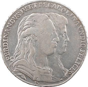 Italie, Naples (royaume de), Ferdinand IV, piastre de 120 grana, 1791 Naples