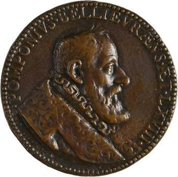 Henri IV, Pomponne de Bellièvre, chancelier de France, fonte par Conrad Bloc, 1598