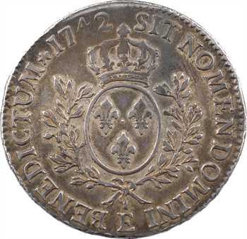 Louis XV, écu au bandeau, 1742 Tours