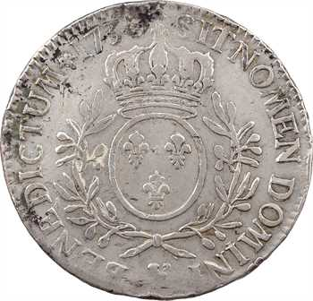 Louis XV, écu aux rameaux d'olivier, 1730 Troyes