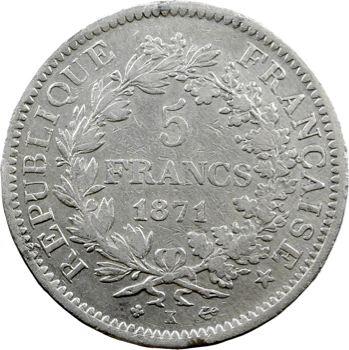 IIIe République, 5 francs Hercule, 1871 Bordeaux