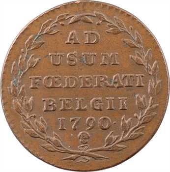 Belgique (États de Belgique unis), Brabant, 2 liards, 1790 Bruxelles