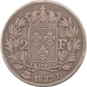 Charles X, 2 francs, 1827 Lyon
