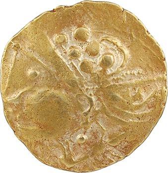 Aulerques Éburovices, hémistatère au sanglier, c.IIe-Ier s. av. J.-C.