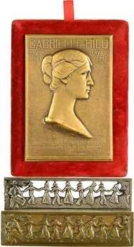 Occitanie : Gabrielle Hild, par Abel Lafleur, 1921, joints deux bas-reliefs la Farandole, les 3