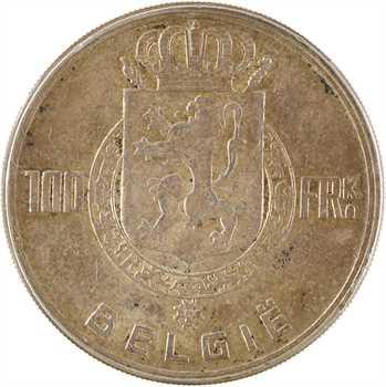 Belgique, Léopold III, 100 francs, 1951