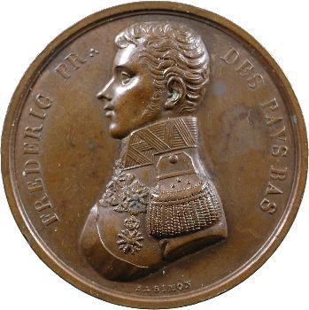 Pays-Bas, Frédéric-Guillaume d'Orange-Nassau, médaille maçonnique