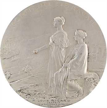 Roty (L.-O.) : centenaire de la Banque de France, en bronze argenté, 1900 Paris