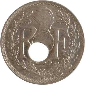IIIe République, 25 centimes Lindauer, 1921 Paris, variété trou décentré