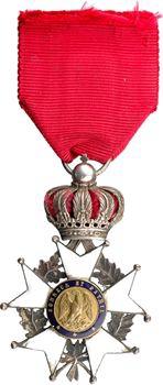 France, Second Empire, Légion d'Honneur en argent avec sa réduction
