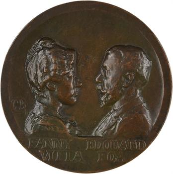 Charpentier (A. L. M.) : mariage d'Édouard Foà et Fanny Vita, fonte, 1899