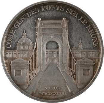 Louis-Philippe Ier, Compagnie des ponts sur le Rhône à Lyon, par Barre, 1844