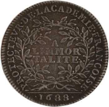 Louis XIV, protecteur de l'Académie Française, 1688 Paris