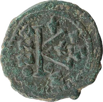 Justinien Ier, demi-follis, Constantinople, 5e officine, An 29 = 544-545 (?)