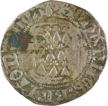 Bretagne (duché de), Jean V, blanc à la targe, Redon
