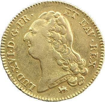 Louis XVI, double louis à la tête nue, 1792 Paris