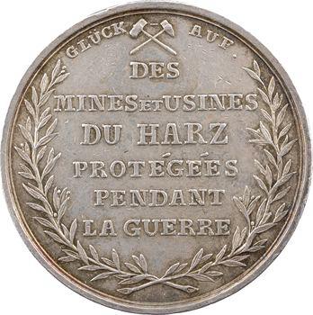 Allemagne, Westphalie, les mines du Harz protégées par l'armée d'Hanovre, 1804