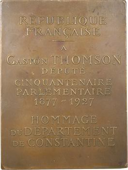 Algérie, Constantine, cinquantenaire de Gaston Thomson député, 1927 Paris