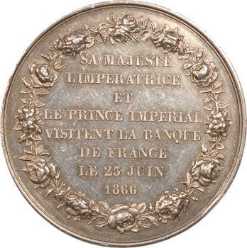 Second Empire, visite de l'Impératrice Eugénie à la Banque de France, 1866 Paris