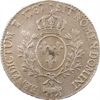 Louis XVI, écu aux rameaux d'olivier du Béarn, 1787 Pau