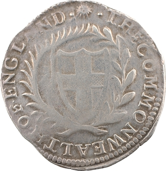 Angleterre, Commonwealth, demi-écu ou halfcrown, 1653 Londres
