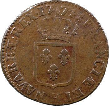 Louis XV, sol à la vieille tête, 1774 La Rochelle