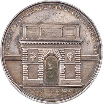 Vatican, Pie IX, reconstruction de la porte San Pancrazio, 1856 Rome