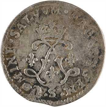 Louis XIV, quadruple sol aux deux L, 1692 Troyes