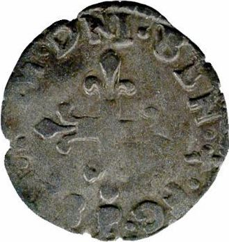 Henri III, liard à l'H couronnée, 1579 Dijon