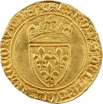 Charles VI, écu d'or à la couronne, 4e émission, Troyes (KAROLV.S)