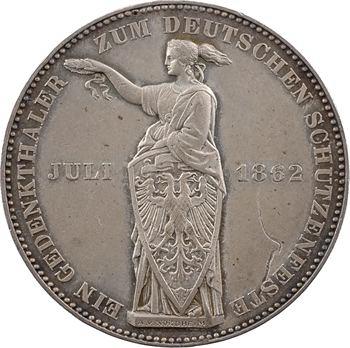 Allemagne, Francfort (ville de), thaler d'hommage, 1862 Francfort