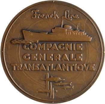 Compagnie Générale Transatlantique, le paquebot Flandre, par Renard, dans sa boîte, s.d. Paris