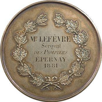 Épernay : hommage au sergent des pompiers M. Lefèvre, 1881 Paris