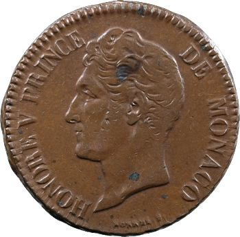 Monaco, Honoré V, cinq centimes, 1837 Monaco