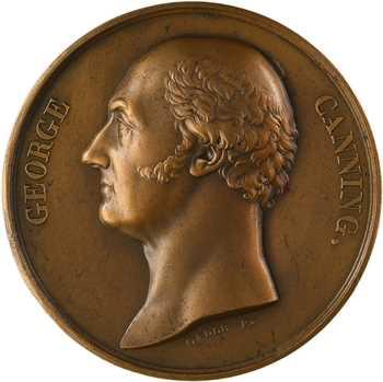 Royaume-Uni, décès de George Canning, par Galle, 1827 Paris