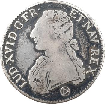Louis XVI, écu aux branches d'olivier, 1775 Perpignan