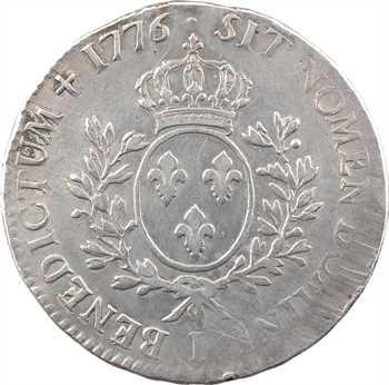 Louis XVI, écu aux branches d'olivier, 1776 Limoges