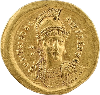 Théodose II, solidus, Constantinople, 3e officine, 408-420