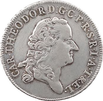 Allemagne, Palatinat, Charles Théodore, 1/2 thaler, 1773 Mannheim