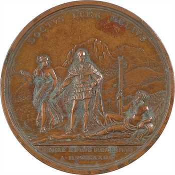 Italie, Charles Félix, régulation du fleuve Isère, par Lavy, 1824
