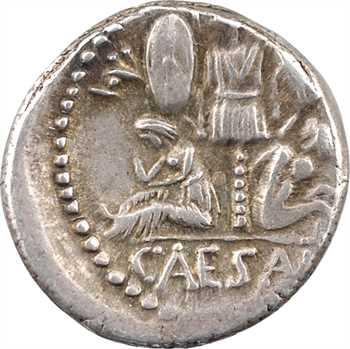 Jules César, denier, Espagne (atelier militaire), 46-45 av. J.-C.
