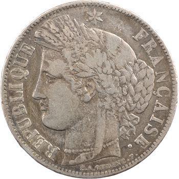 IIe République, 5 francs Cérès, 1850 Bordeaux