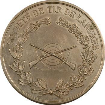 Tir : Langres, société de tir, médaille en maillechort, s.d. Paris