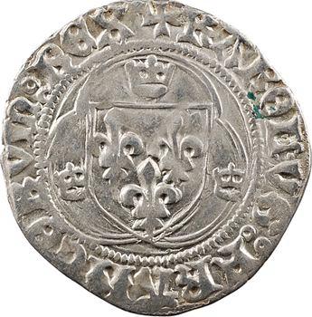 Charles VIII, blanc à la couronne (annelets/molettes et KAROL.VS), cantonnement inversé, Châlons-en-Champagne